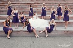 These people have a big wedding party as well, look at all the pictures - they have some fun ideas