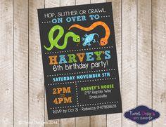 REPTILE BIRTHDAY INVITATION