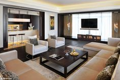 JW Marriott Marquis Hotel Dubai welcomes you with refinement and excellent service. We invite you to join us in the United Arab Emirates. Shabby Chic Living Room, Cozy Living Rooms, Formal Living Rooms, New Living Room, Living Room Modern, Living Room Sofa, Living Room Decor, Living Area, Hotel Room Design