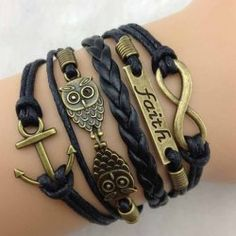 Wholesale Stylish Pigeon Note Anchor Layered Bracelet For Women (AS THE PICTURE), Bracelets - Rosewholesale.com