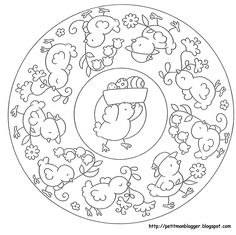 Álbum - Google+ Easter Coloring Pages, Coloring Book Pages, Coloring Pages For Kids, Coloring Sheets, Easter Crafts, Crafts For Kids, Easter Printables, Easter Activities, Mandala Coloring