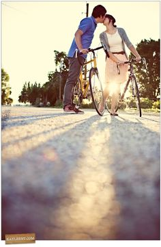 Bikes, Engagements, and these two people. Love the colors from this photographer too.