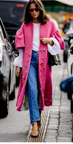 Casual Fall Outfits That Will Make You Look Cool – Fashion, Home decorating Pink Outfits, Mode Outfits, Fashion Outfits, Womens Fashion, Fashion Trends, Street Chic, Street Style, Mode Rose, Mode Mantel