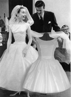 Audrey Hepburn Funny Face Wedding Gown.  I was thinking mine was SO 2003 a little while ago but it's actually so similar to Audreys in Funny Face.  Feelin' good about my choice now. :)