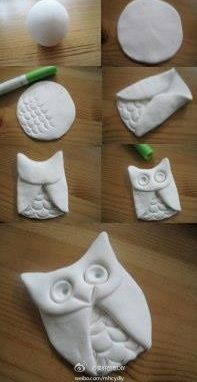 Salt dough owl ornament