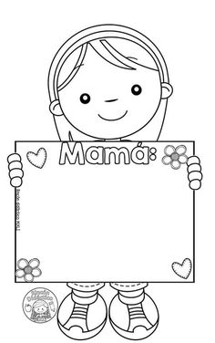 Tarjetas Diy, 8 Martie, Mothers Day Crafts For Kids, Art Programs, Free Coloring Pages, Special Day, Projects To Try, Snoopy, Clip Art