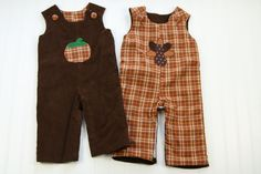 Reversible+Fall+Boys+Longall+with+Pumpkin+&+by+SodaCitySewing,+$35.00