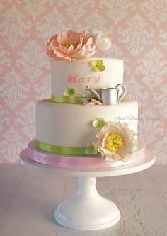 Garden peonies - by SteelPennyCakes @ CakesDecor.com - cake decorating website