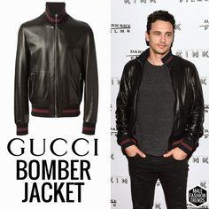James Franco y su Gucci Leather Bomber Jacket