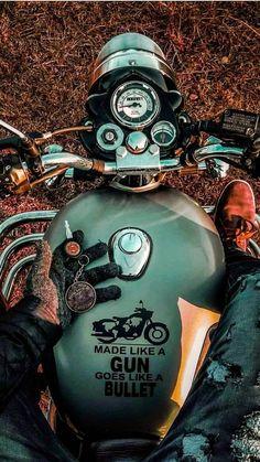 ideas for motorcycle adventure gear harley davidson Royal Enfield Bullet, Classic 350 Royal Enfield, Enfield Classic, Enfield Bike, Enfield Motorcycle, Royal Enfield Wallpapers, Motard Sexy, Moto Scrambler, Moto Guzzi