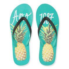 aeropostale flip flops   Aeropostale Aero Pineapple Flip-Flop By Elitify