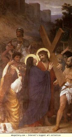 William-Adolphe Bouguereau. Christ Meeting His Mother on the Way to Calvary.