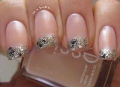 Nail DIY: Glitter-tipped nails