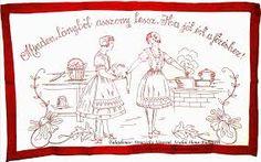 Falvedo: Minden lanybol asszony lesz, ha jol ert a fozeshez! Chain Stitch Embroidery, Learn Embroidery, Embroidery Stitches, Embroidery Patterns, Hand Embroidery, Stitch Head, Last Stitch, Hungarian Embroidery, Wall Carpet