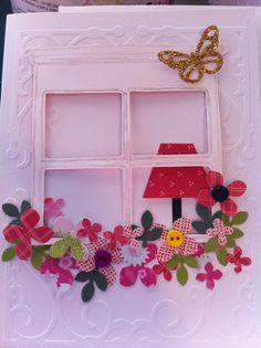 Flower Box Window card