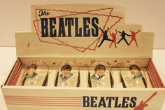 There were Beatle drinking glasses being sold by summer of 1964 - I really wanted a George one and had the worst time finding it -- finally did - wonder what mom did with that?