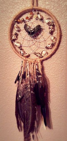 Dream Catcher - Owl by YourWeavingDreams on Etsy