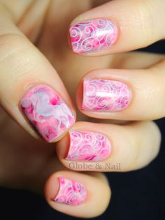 Nails of the Day: Dreamy Pink with a Unicorn