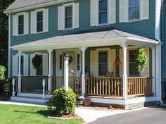 Blue Exterior Design Ideas, Pictures, Remodel, and Decor - page 17