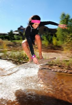 Lexi Hutchings skimboarding