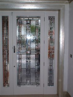 Incredible selection of Stained Glass Door Panels to view in our gallery. Your sure to find a design that will appeal to your stained glass door panel needs. Stained Glass Door, Custom Stained Glass, Glass Panel Door, Door Panels, Stained Glass Panels, Grill Design, Beveled Glass, Jun, Ideas