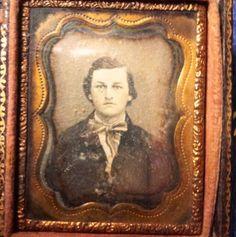 SEALED Dag Portrait Civil War Era Young Man Bow Ribbon Tie Daguerreotype | eBay