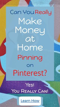 Yes! You really can make mioney online pinning on Pinterest. This page has all the details about how it works. Home Business Launches how to learn the science behind making money online with just a computer and a internet connection