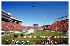 b-2 flyover of lane stadium, virginia tech!!