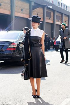 Sartorial perfection EVERY time - Miroslava Duma at Ralph Lauren via Collage Vintage