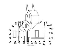 The Simple One Story House In This Printable Dot To Dot