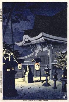 Kitano Shrine by Takeji Asano, 1952