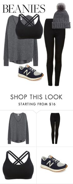 """Grays"" by charisse-bellen ❤ liked on Polyvore featuring Topshop and New Balance"