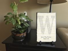 Customizable Slate Song Lyric Sign - Initial Lyric Plaque - Handmade and Personalized - 16\x10\