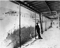 The Blizzard of 1888, Milford, Delaware snow 'tunnel'.  This is part of the pictorial history of Milford collection at the Delaware Public Archives.