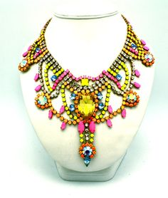 One of a Kind Statement Necklace Custom Reserved by DolorisPetunia, $500.00
