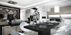 Projektowanie wnętrz apartamentu. Więcej wizualizacji an stronie: http://www.artcoredesign.pl/Projekty/high-flight-projekt-wnetrza-apartamentu/