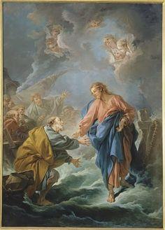 Ο Άγιος Πέτρος προσπαθεί να περπατήσει στο νερό 1766 Καθεδρικός ναός Βερσαλίες