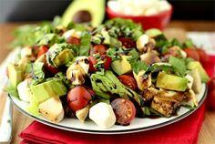 Avocado and Chicken Caprese Salad by Iowa Girl Eats