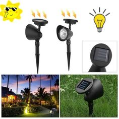 Lights & Lighting Solar Lamps Led Solar Light Waterproof 12 Led Lights Landscape Spotlight With 2 Lamps And Solar Panel For Outdoor/ Garden/ Pool/ Pond/ Lawn Special Summer Sale
