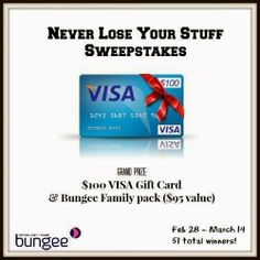 Enter to win a $100 Visa gift card in the Never Lose Your Stuff #giveaway #sweepstakes ends 3-14-14