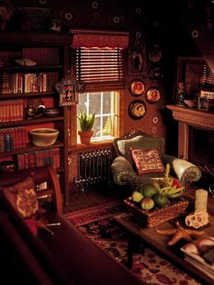 Miniature Dollhouse Living Room  The livingroom (again) by amyla174, via Flickr