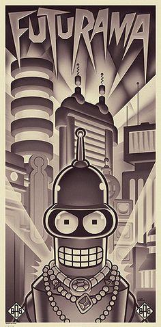 "☆ ""Bender's Big Score"" Art Lithograph ☆"