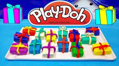 Play Doh Surprise Birthday Presents Unboxing Toys Video For Children Pla...