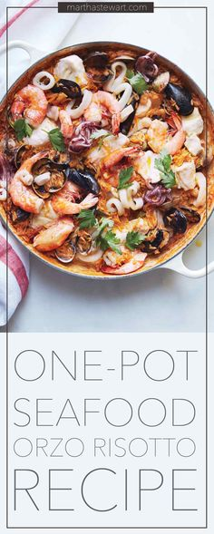 Create a tasty and easy meal with orzo, seafood that is sure to impress your guests