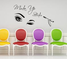 MakeUp Wall Decals Beautiful Eyes Closeup Vinyl by LollipopDecals