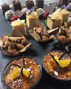 Just a sample of the new & #delicious Paleo High Tea menu at Asana by Pete Evans @capribyfraser #yum #pastry #cremecatalan #brownies #chocolate #brisbaneanyday #paleo