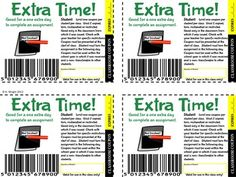 Classroom Incentive Coupons- Middle Grades