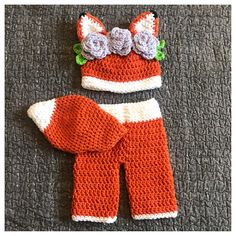 Fox Baby outfit Newborn Baby Photography Prop Photo Prop Fox