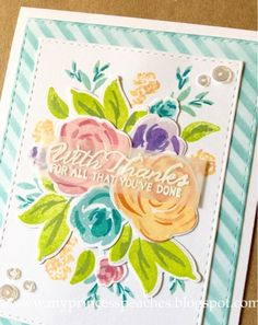 Hello everyone! Today's blog post features my card made using the WPlus9 Freehand Florals stamps and coordinating die set: I was inspired by...