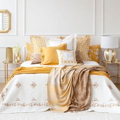 Yellow Jacquard Wool Blanket - Throws - Decor and pillows | Zara Home Canada